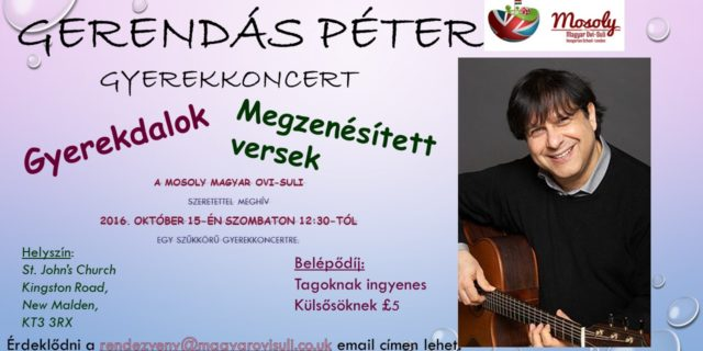 15 October 2016 Children Concert with Peter Gerendas